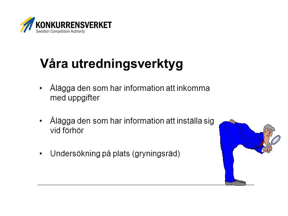 Mer information www.konkurrensverket.se http://europa.eu.int/comm/competition hanna.naslund@kkv.se hanna.naslund@kkv.se 08-700 16 44