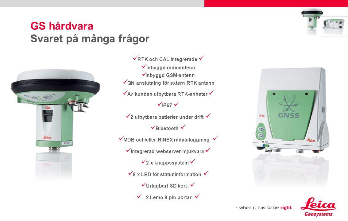 Leica Zeno GIS Din vision: Enkelanvänd mobil GIS Den mest vädertåliga handhållna GNSS/GIS  Integrerad GNSS mottagare  IP67, -30 till 60° C  2 Megapixel integrerad kamera  VGA färgskärm – porträtt eller landskap Högpresterande submeter GNSS  DGPS < 0.4 m  SBAS < 1.2 m  Efterberäknad: Submeter – dm Fullpackad med kraft  Bekväm trådlös eller kabelansluten dataöverföring  Enastående drifttid, 8-9 timmar med utbytbara batterier Leica Zeno 10 och Zeno 15