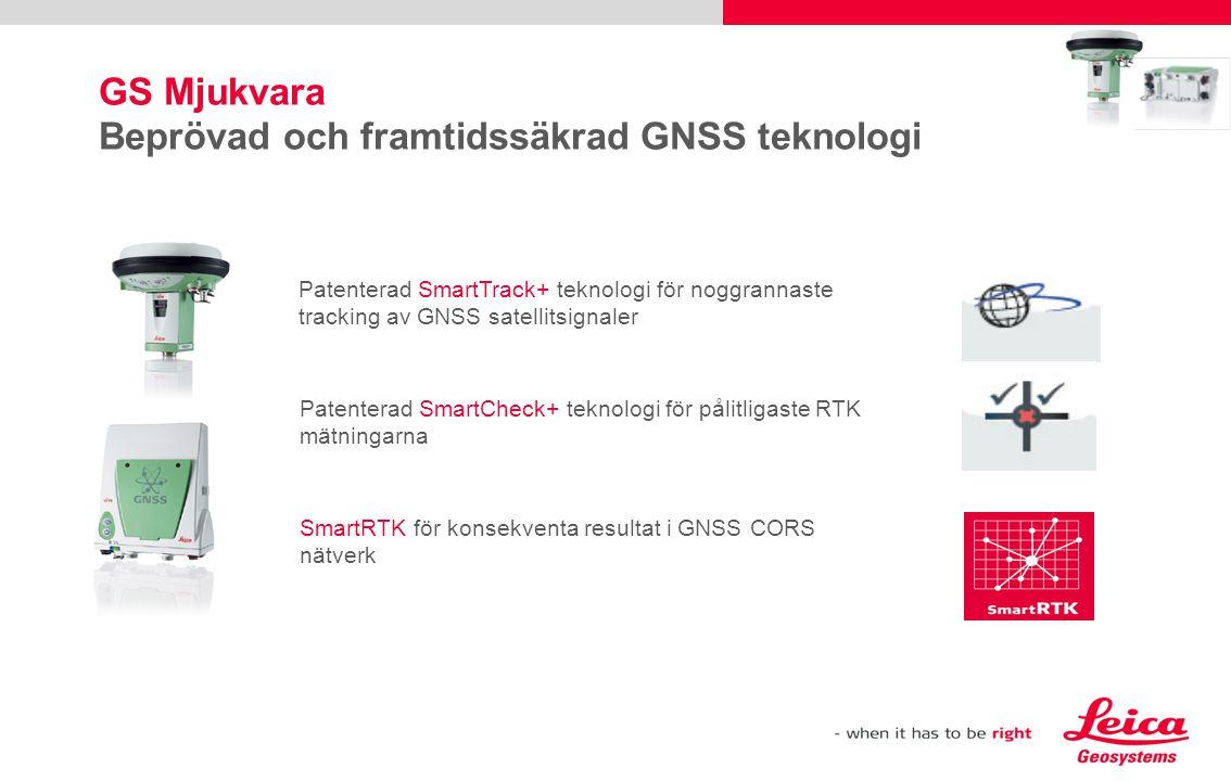 GS Hårdvara GS15 kan användas för SmartStation  Användning av GS15 som SmartStation på TPS1200+ eller TS30  Använd nya adaptern GAD110  S15 SmartStation endast möjlig i kombination med en CS kontrollenhet, t.ex.