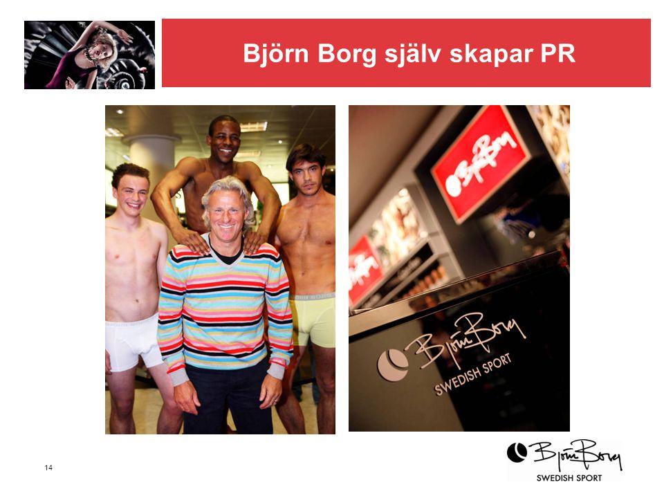 14 Björn Borg själv skapar PR