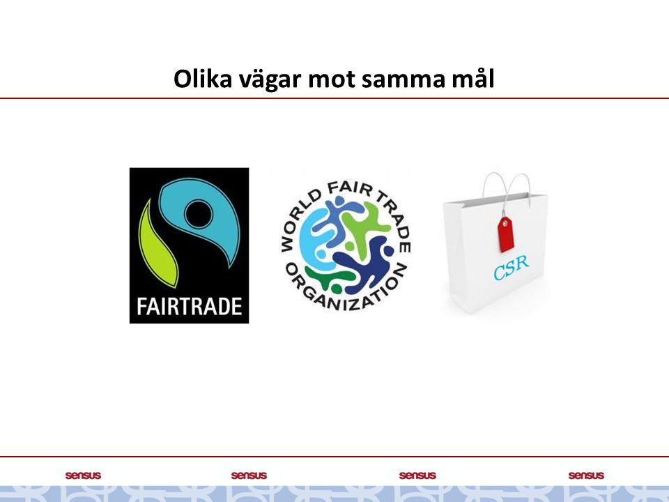 Skillnaden mellan rättvis- och etisk handel RÄTTVIS HANDEL Rättvis handel har en klar organisationsbas.