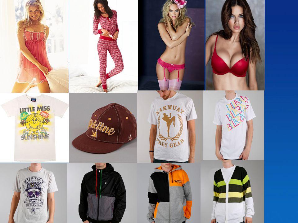 Produkter! •T-shirts •Bh •Trosor •Pyjamas mm