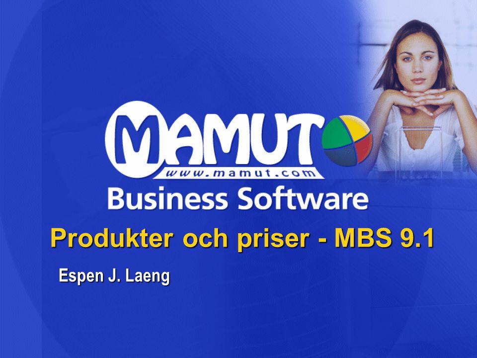 Produkter och priser - MBS 9.1 Espen J. Laeng