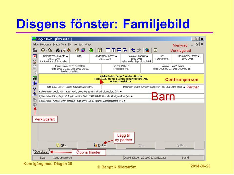 Disgens fönster: Familjebild Kom igång med Disgen 30 © Bengt Kjöllerström 2014-06-28