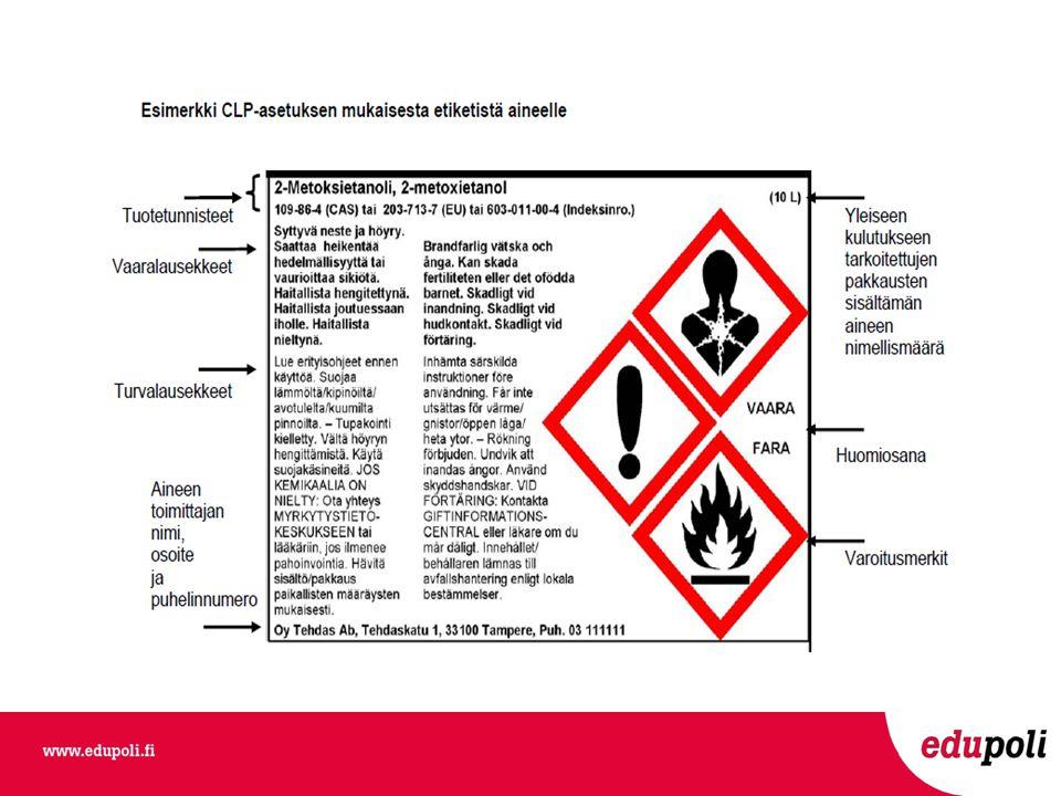Kemikaalien tuotetiedot