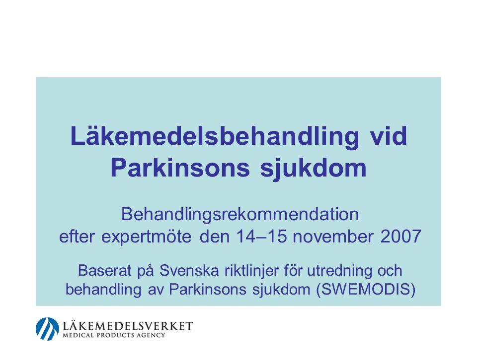 Parkinsonism, definition •Skador och sjukdomar som påverkar dopaminnervcellernas funktion i de basala ganglierna.