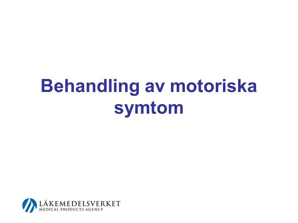 Behandling av motoriska symtom