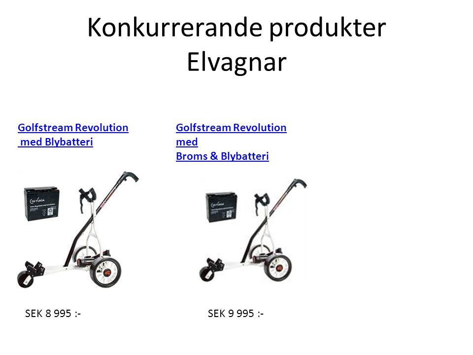 SEK 8 995 :-SEK 9 995 :- Golfstream Revolution med Broms & Blybatteri Golfstream Revolution med Blybatteri