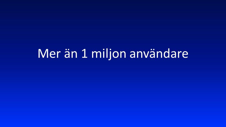 Mer än 1 miljon användare