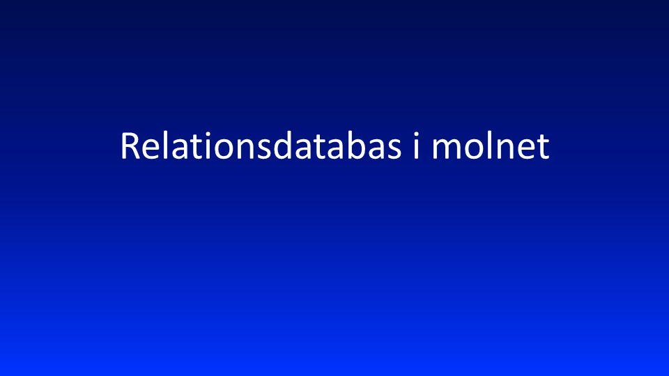 Relationsdatabas i molnet