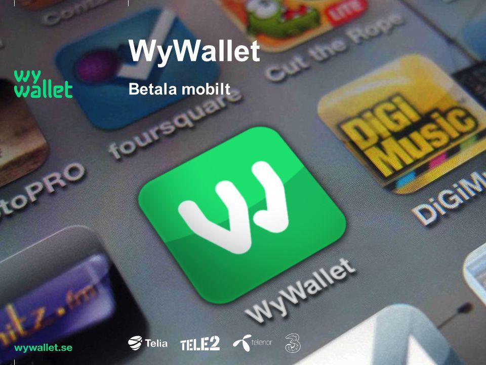 WyWallet är mobila betalningar Affärsidé Snabba, enkla och säkra mobila betalningar för alla svenskar, överallt
