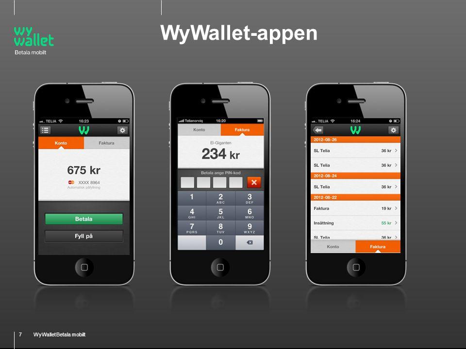 7WyWallet Betala mobilt WyWallet-appen