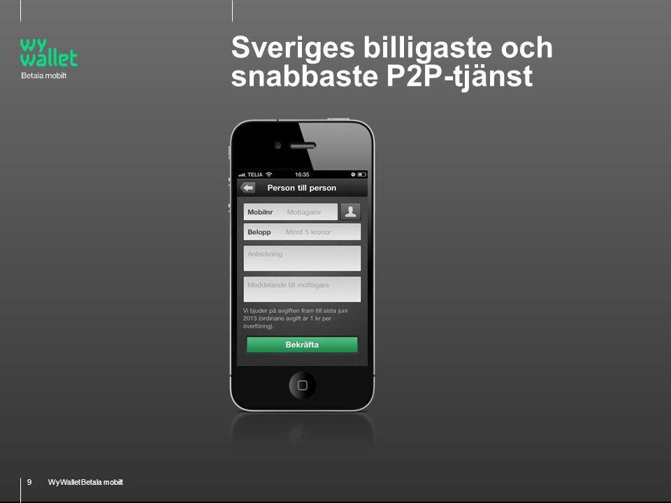 9WyWallet Betala mobilt Sveriges billigaste och snabbaste P2P-tjänst