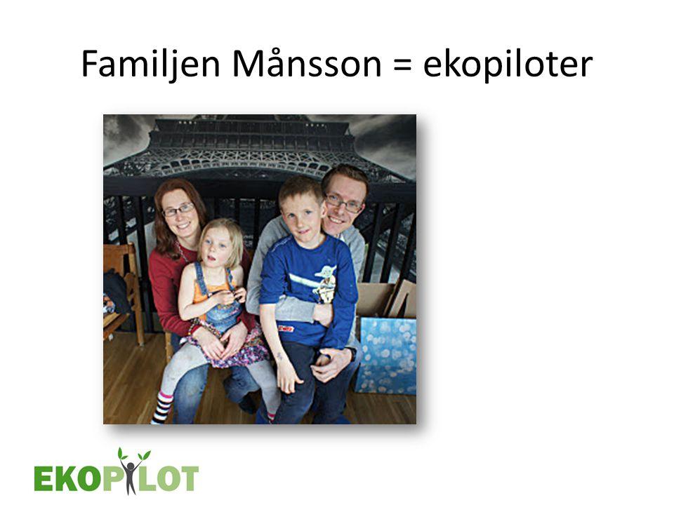 Familjen Månsson = ekopiloter