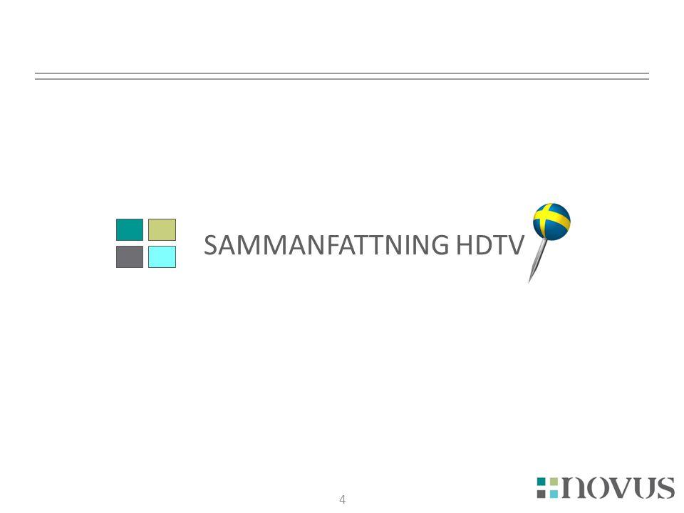 5 Sammanfattning HDTV 5  Hälften tittar inte på HDTV idag  Drygt fyra av tio anser sig inte veta så mycket om HDTV  Drygt var tionde vet inte om deras platt-TV är en HDTV  Drygt två av tio fick information om vad HDTV är i samband med köp av platt-TV  Knappt en av tio svarade alla rätt på vad som behövs vara anpassat för att se på HDTV