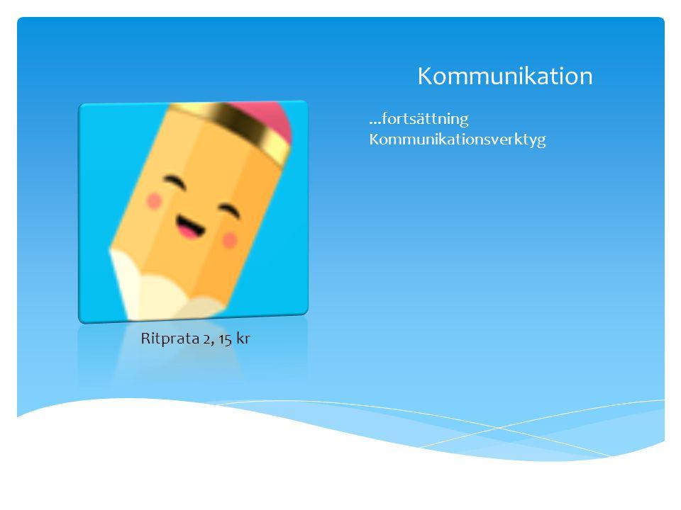 Kommunikation...fortsättning Kommunikationsverktyg Ritprata 2, 15 kr