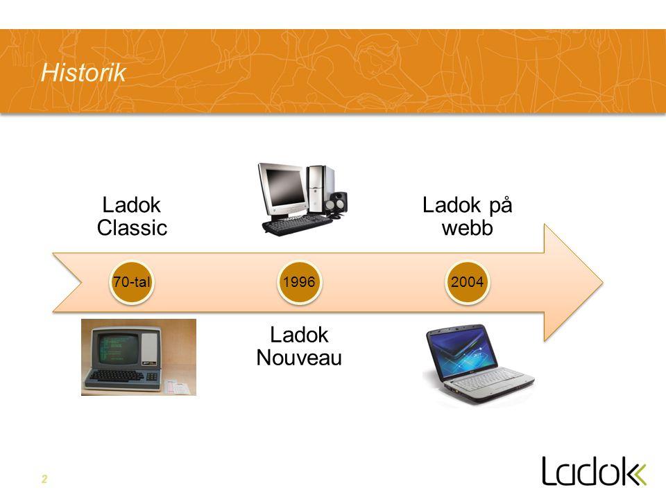 2 Historik Ladok Classic Ladok Nouveau Ladok på webb 70-tal19962004