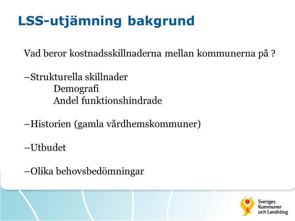 LSS-utjämning påverkbarhet Kostnader - Fördelningar t.ex.