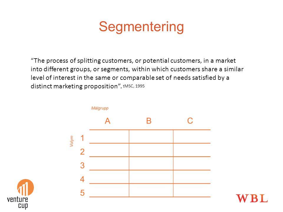 Lanseringsstrategi •Hur skall jag ta produkten/tjänsten till marknaden.