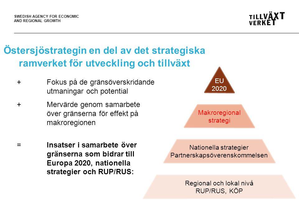 SWEDISH AGENCY FOR ECONOMIC AND REGIONAL GROWTH Anpassa insatser till utmaningarna 1.