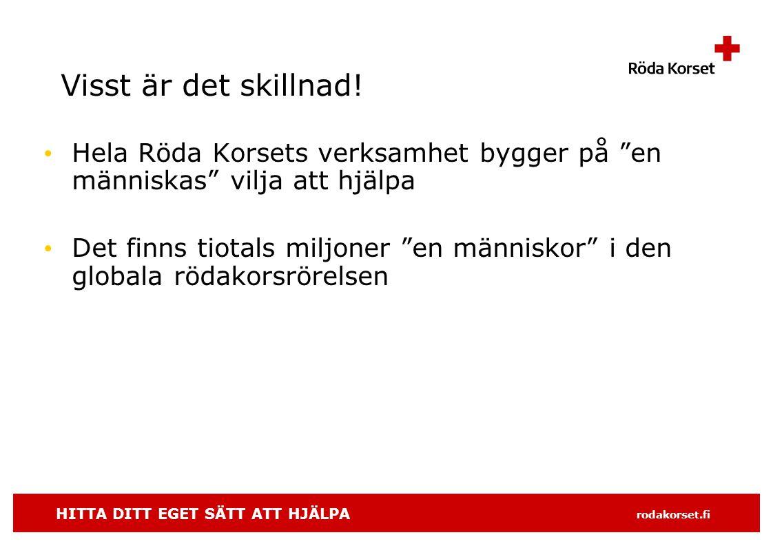 HITTA DITT EGET SÄTT ATT HJÄLPA rodakorset.fi Till Finland kom ideologin tidigt