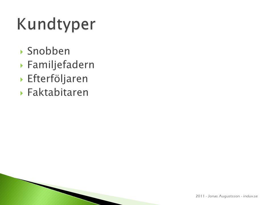  Snobben  Familjefadern  Efterföljaren  Faktabitaren 2011 - Jonas Augustsson - induv.se