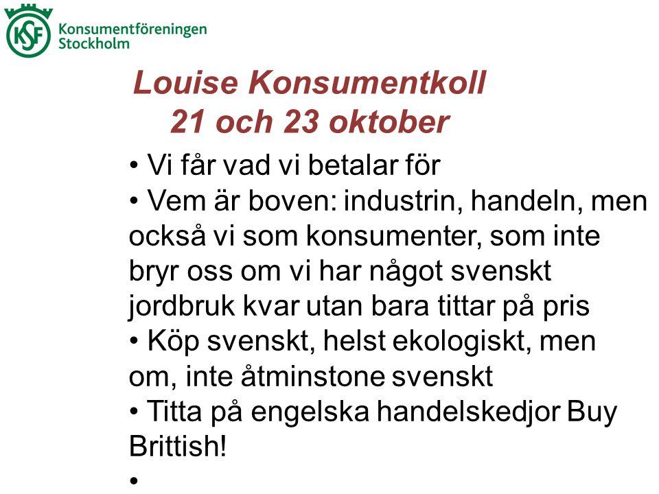 • Vi får vad vi betalar för • Vem är boven: industrin, handeln, men också vi som konsumenter, som inte bryr oss om vi har något svenskt jordbruk kvar