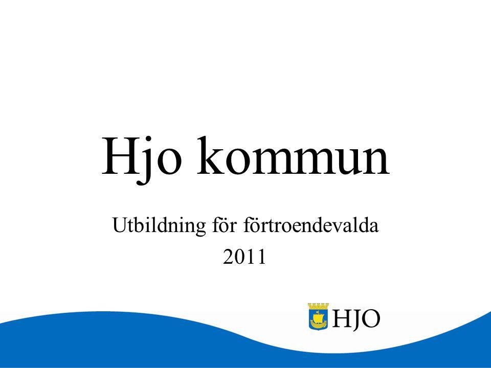 Hjo kommun Utbildning för förtroendevalda 2011