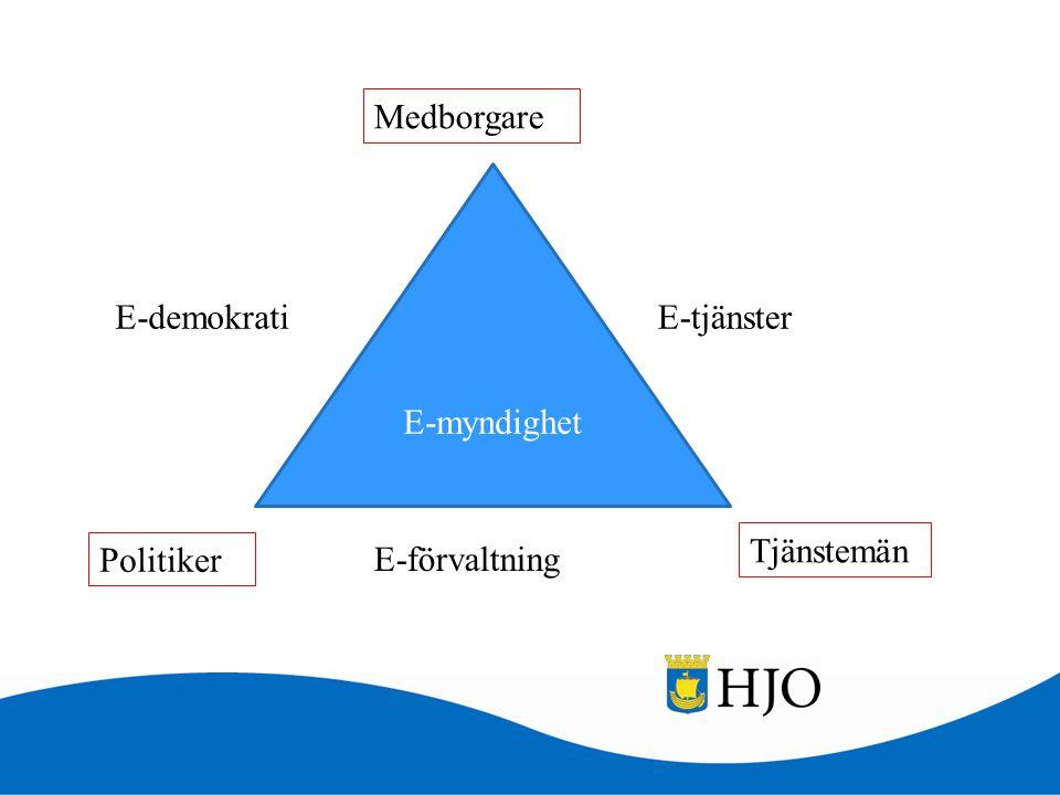 E-myndighet Medborgare Tjänstemän E-tjänsterE-demokrati E-förvaltning Politiker
