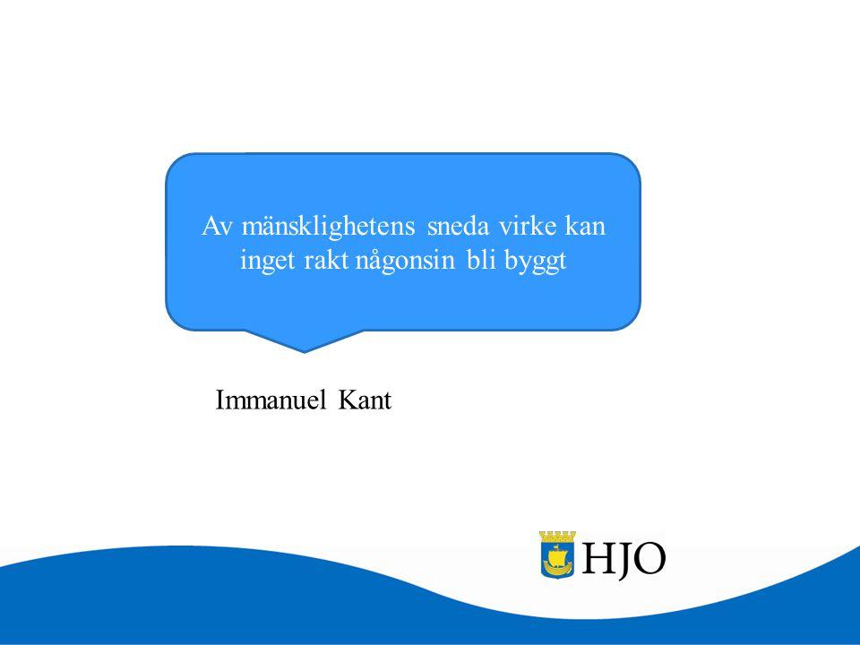 Av mänsklighetens sneda virke kan inget rakt någonsin bli byggt Immanuel Kant