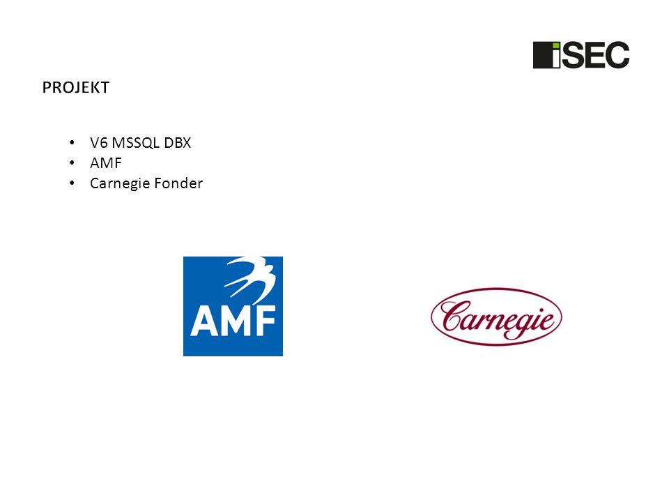 • V6 MSSQL DBX • AMF • Carnegie Fonder