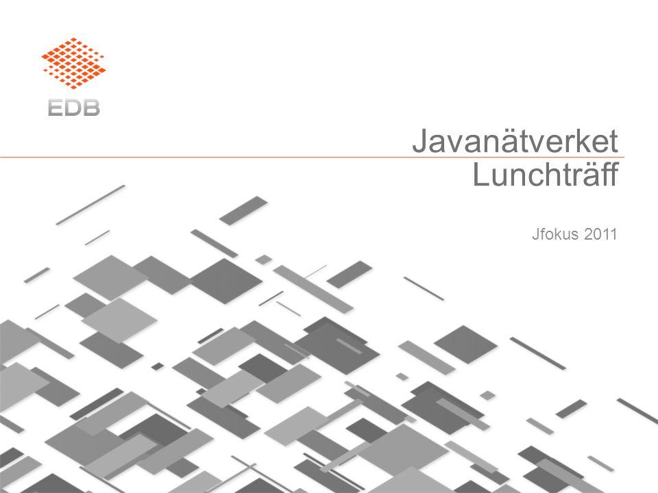 Javanätverket Lunchträff Jfokus 2011