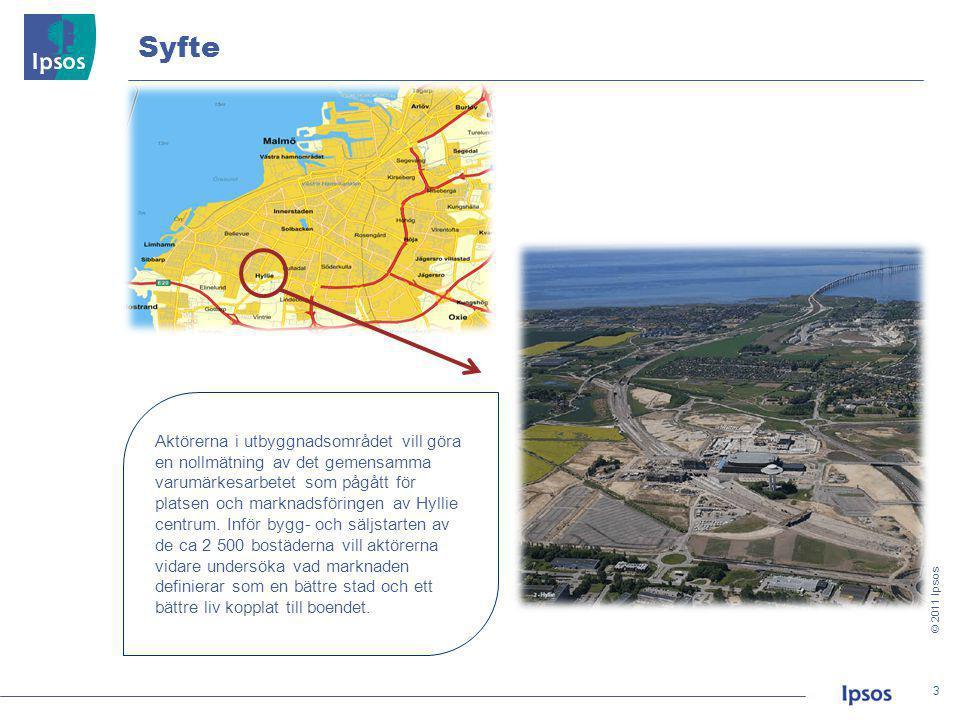 © 2011 Ipsos 24 24 • Husie, Limhamn och Oxie är områden med en majoritet som bor i villa och rad-/ kedjehus.