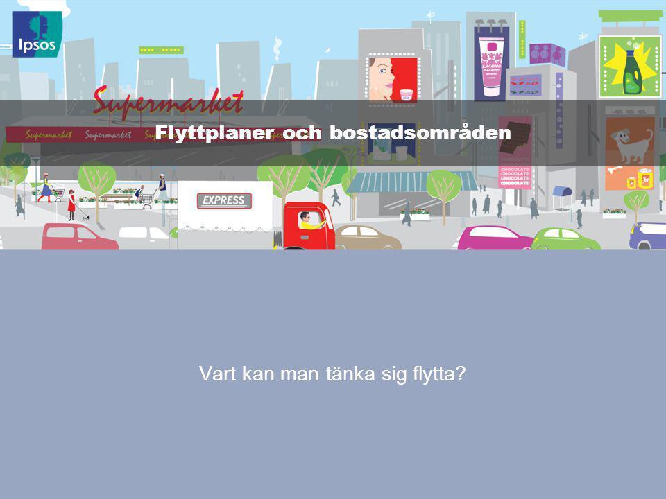 © 2011 Ipsos 33 Vart kan man tänka sig flytta Flyttplaner och bostadsområden