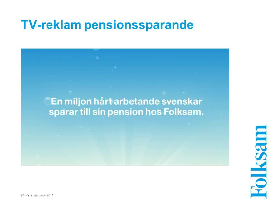 20 Våra stämmor 2011 TV-reklam pensionssparande