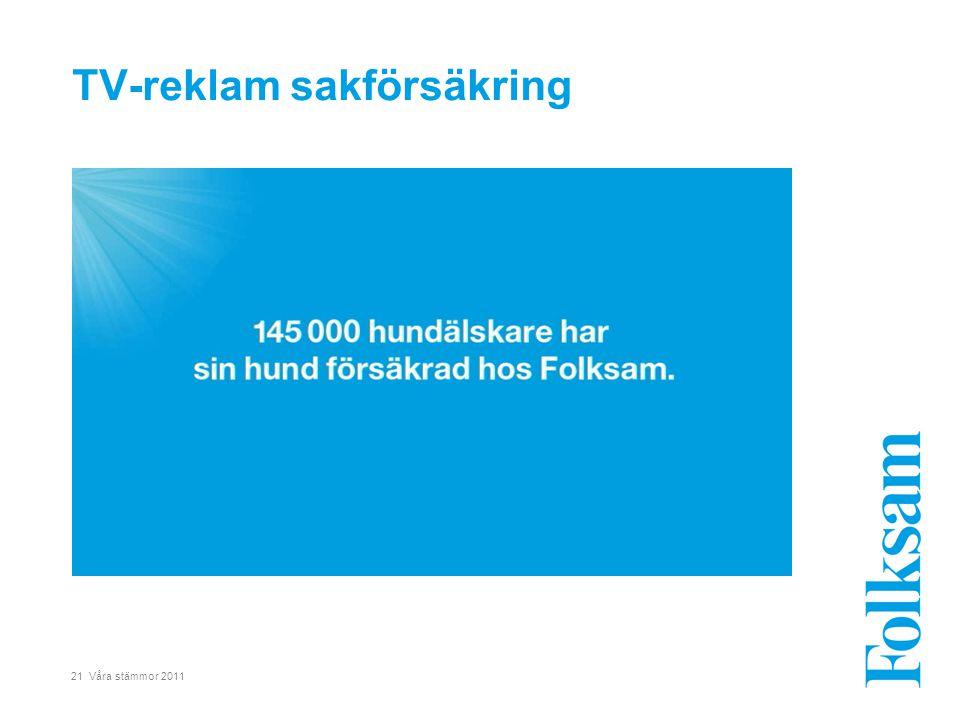 21 Våra stämmor 2011 TV-reklam sakförsäkring