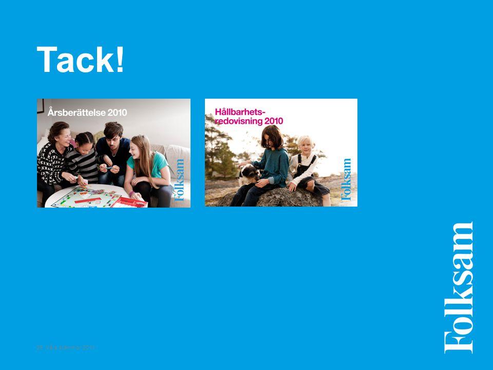 26 Våra stämmor 2011 Tack!