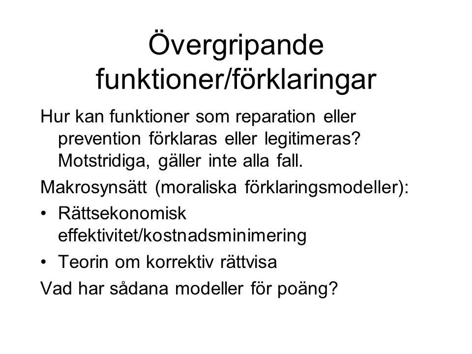 Skärps grunderna för skadeståndsansvaret i Sverige.