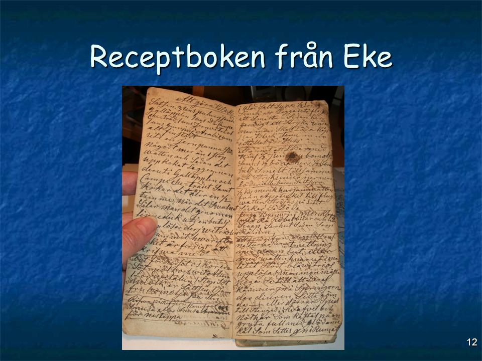 12 Receptboken från Eke