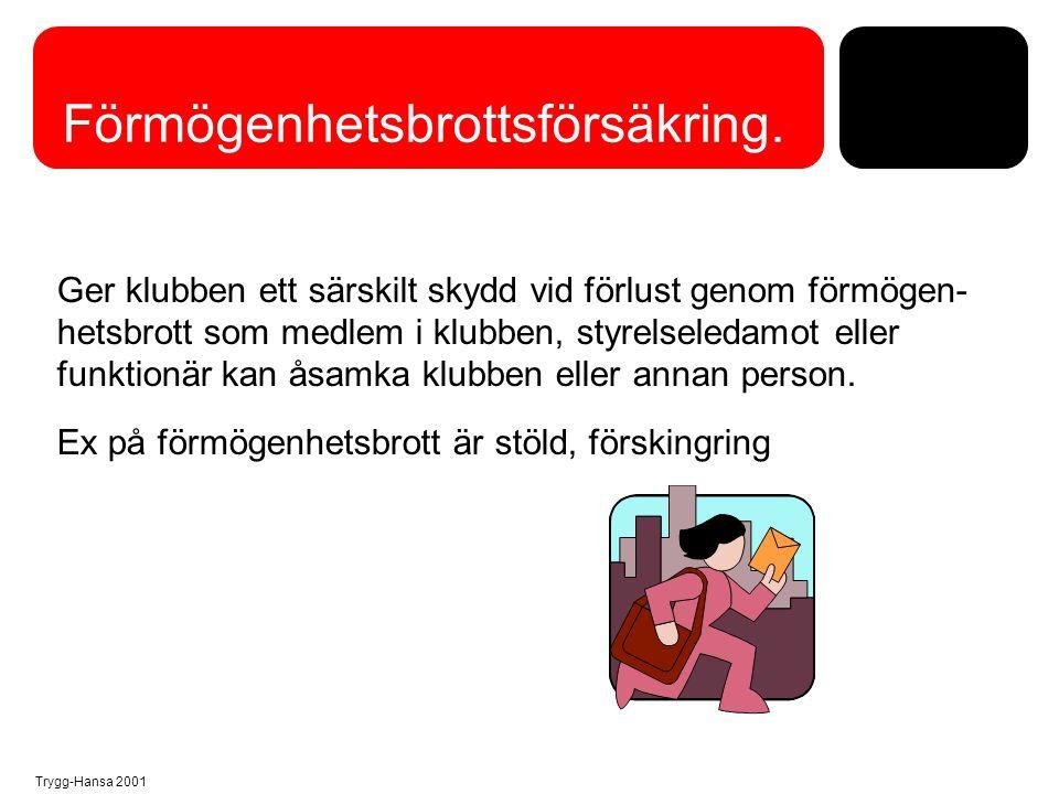 Trygg-Hansa 2001 Rättsskyddsförsäkring……...