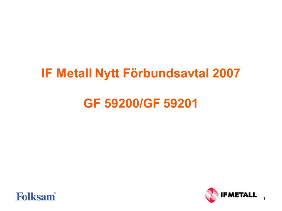 1 IF Metall Nytt Förbundsavtal 2007 GF 59200/GF 59201