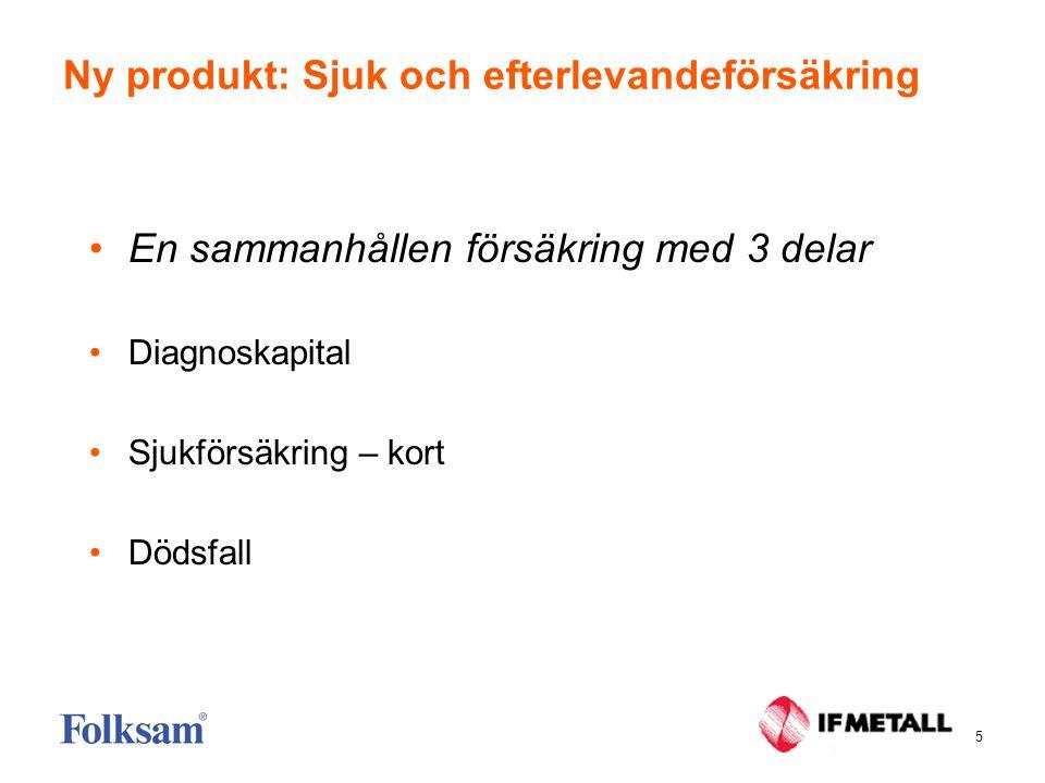 6 Sjuk och efterlevandeförsäkring •Införs först på IF Metall.