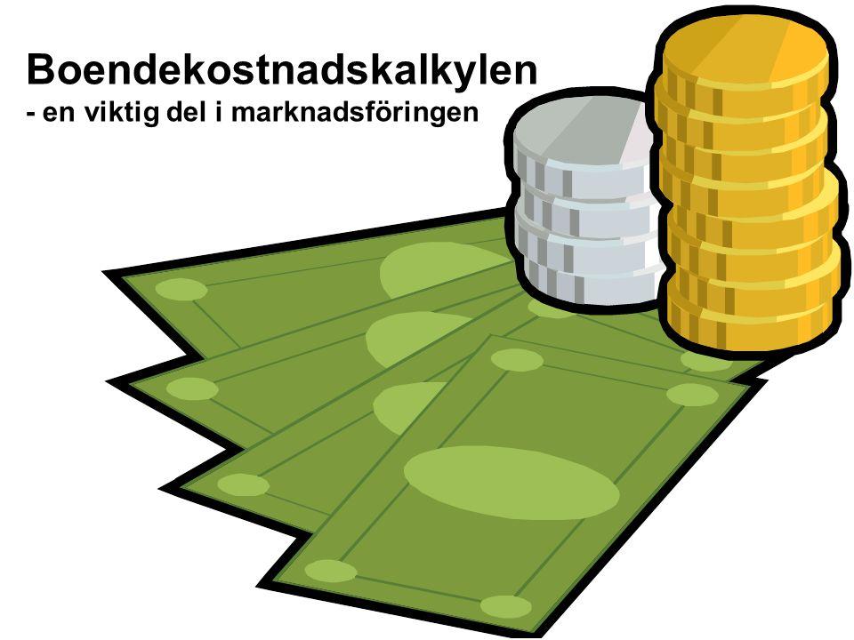 Boendekostnadskalkylen - en viktig del i marknadsföringen