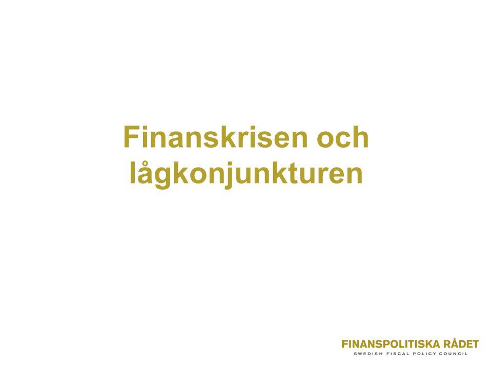 Finanskrisen och lågkonjunkturen