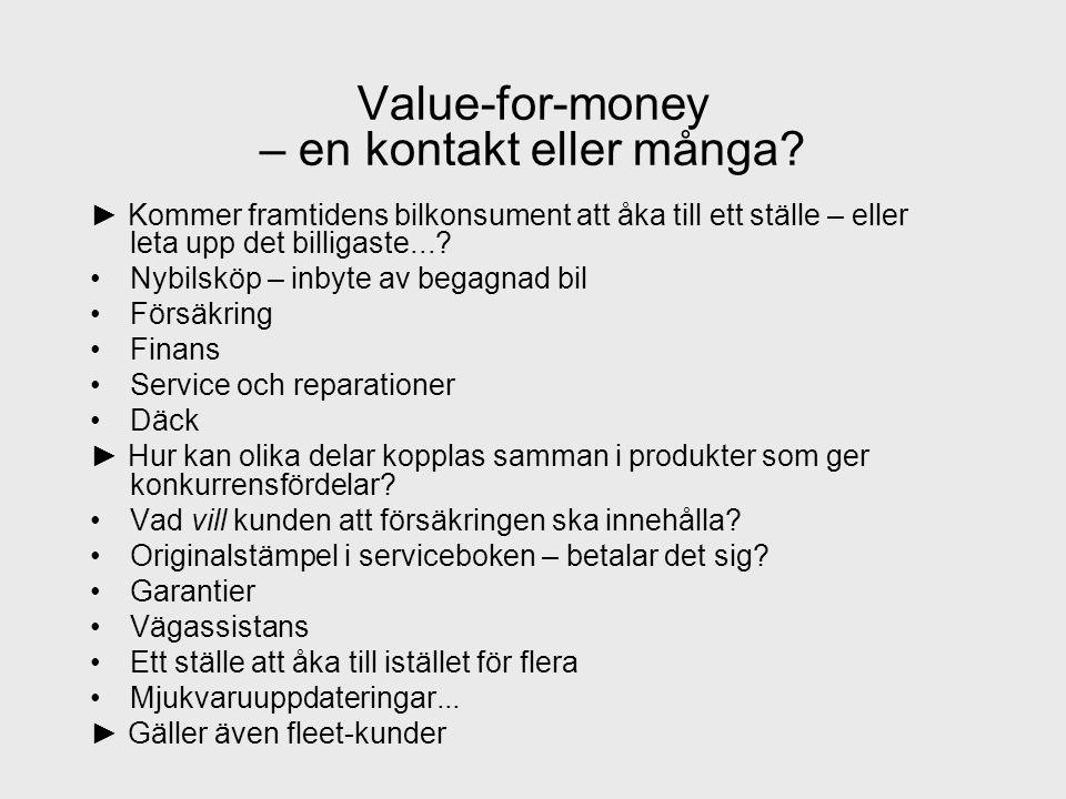 Value-for-money – en kontakt eller många.