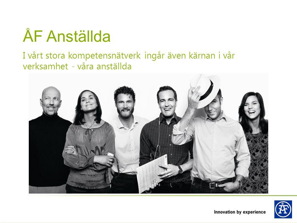 I vårt stora kompetensnätverk ingår även kärnan i vår verksamhet - våra anställda ÅF Anställda