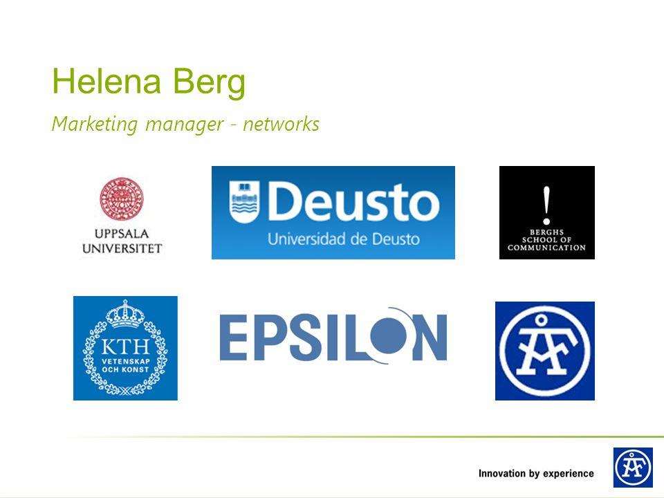 Marketing manager - networks Helena Berg