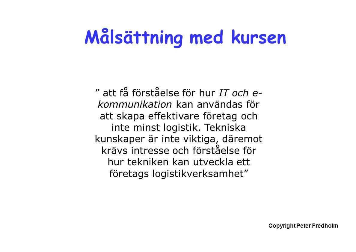 Copyright Peter Fredholm Elektronisk affärskommunikation