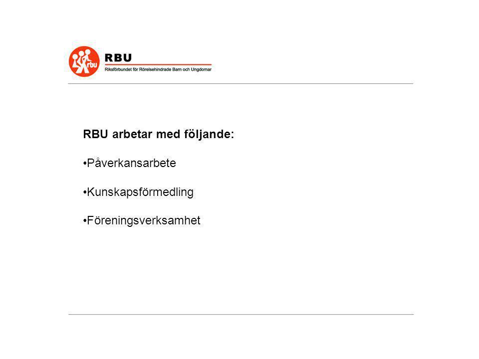 Viktiga frågor för RBU att driva är: •Att försvara rätten till personlig assistans för barn och unga.