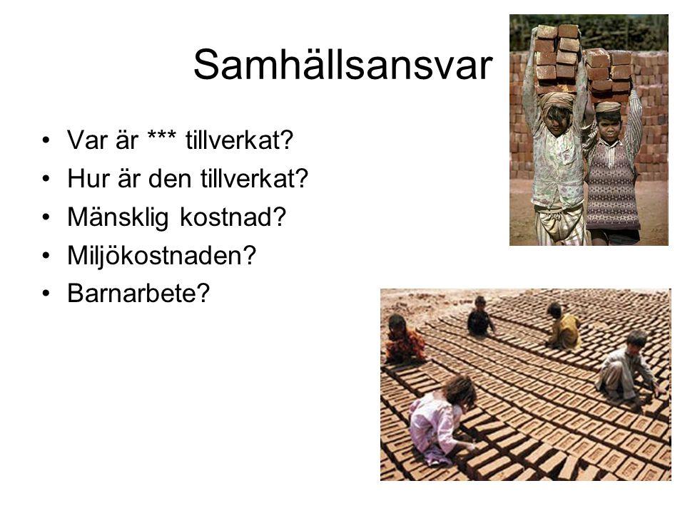 Miljöarbete i Sverige •Kretsloppstanken •Miljövänligt •Gamla försyndelser
